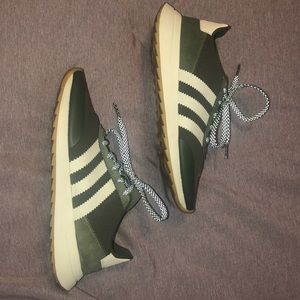 Army/olive Green Adidas Tennis Shoes